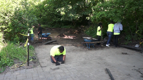 Tree Trust managed a program for teens to learn job skills by building a patio at Richardson Nature Center during the summer of 2013.